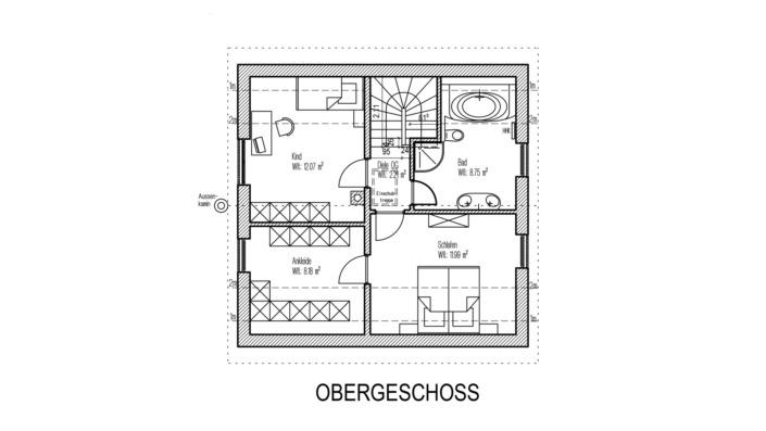 EFH 96 Grundriss Obergeschoss