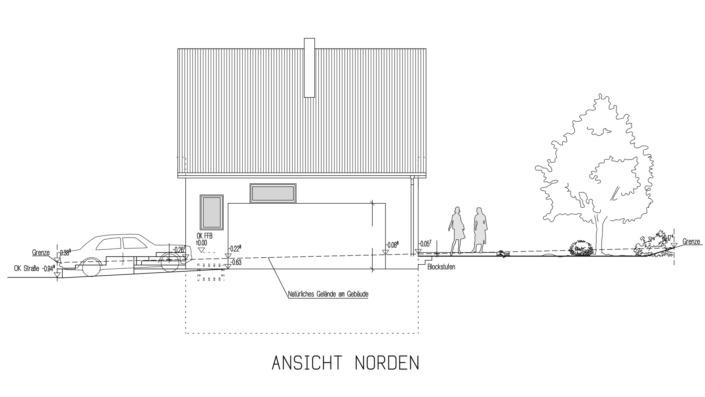 Einfamilienhaus 102 qm Ansicht Nord