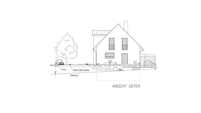 Einfamilienhaus 102 qm Ansicht Ost