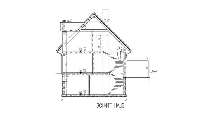 Einfamilienhaus 102 qm Schnitt Haus