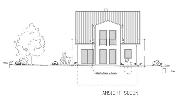 Einfamilienhaus 102 qm Ansicht Süd