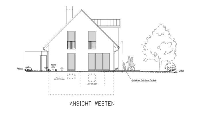 Einfamilienhaus 102 qm Ansicht West
