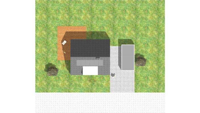 107 qm Einfamilienhaus Ansicht oben