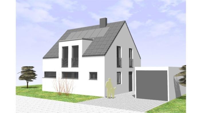 107 qm Einfamilienhaus Ansicht Süd
