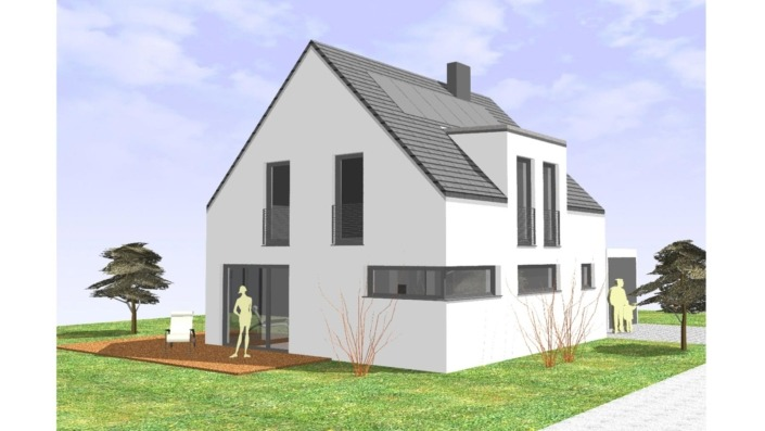 107 qm Einfamilienhaus Ansicht West