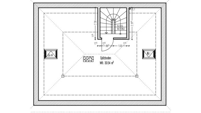 110 qm Einfamilienhaus GR Dachboden