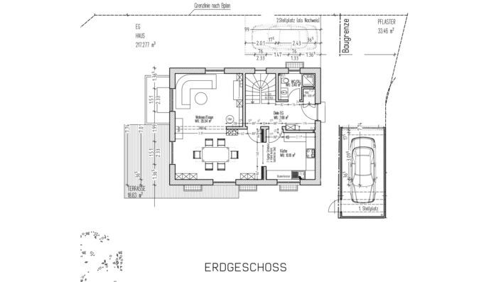 110 qm Einfamilienhaus GR EG