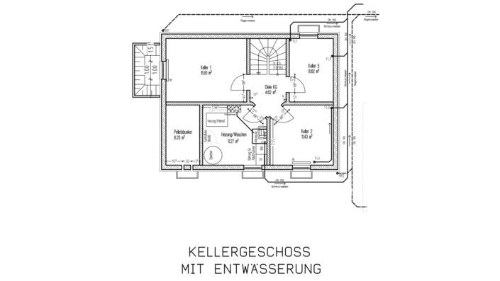 110 qm Einfamilienhaus GR Keller