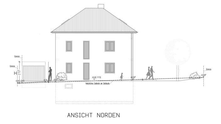 110 qm Einfamilienhaus Ansicht Norden