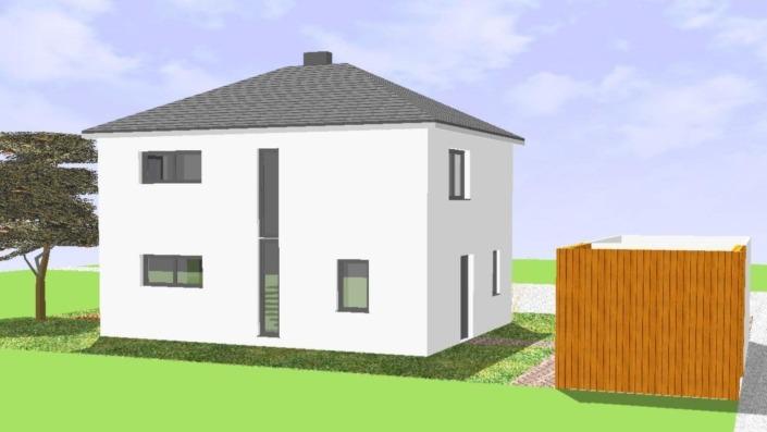 Einfamilienhaus 110 qm Ansicht Nord