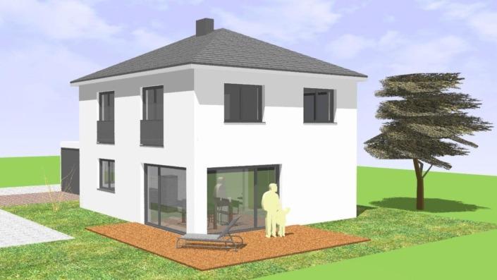 Einfamilienhaus 110 qm Ansicht Süd