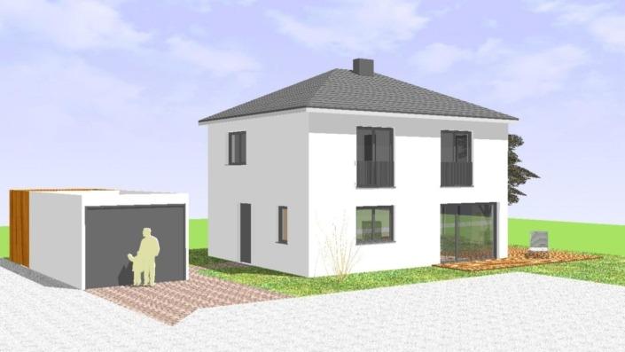 Einfamilienhaus 110 qm Ansicht West