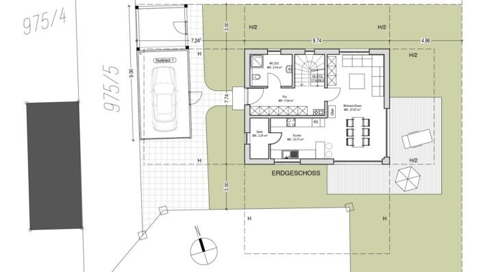 Einfamilienhaus 110 qm Grundriss Erdgeschoss
