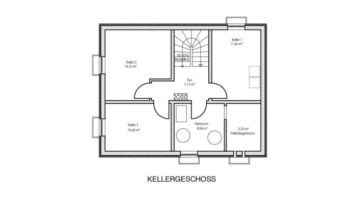 Einfamilienhaus mit 111 qm Grundriss