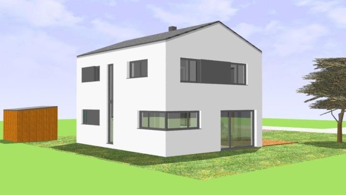 113 qm Einfamilienhaus Ansicht Nord