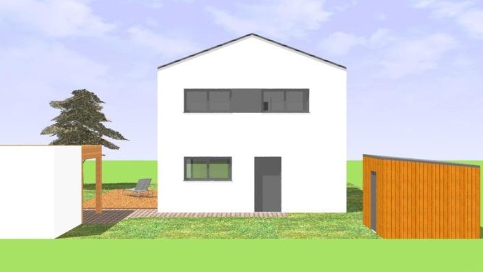 113 qm Einfamilienhaus Ansicht Ost