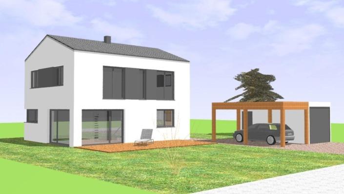 113 qm Einfamilienhaus Ansicht West
