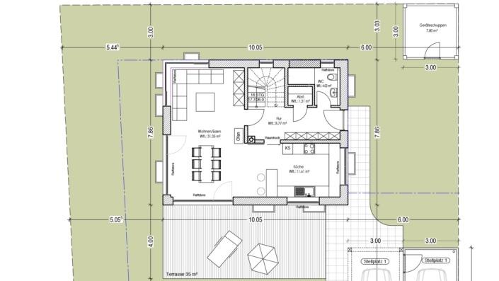 113 qm Einfamilienhaus Grundriss Erdgeschoss