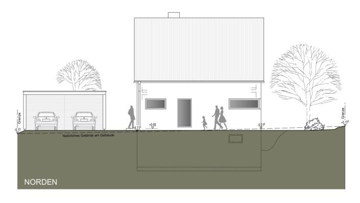 Einfamilienhaus mit 121 qm Ansicht Nord