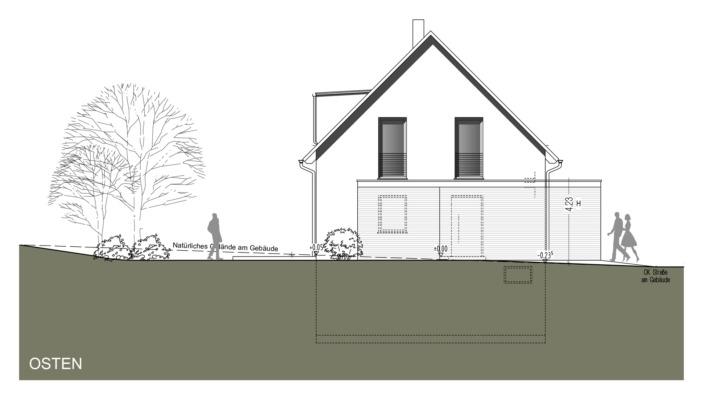 Einfamilienhaus mit 121 qm Ansicht Ost