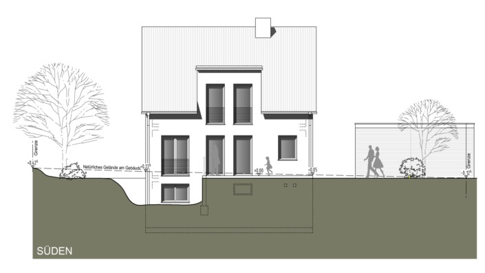 Einfamilienhaus mit 121 qm Ansicht Süd