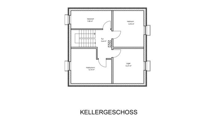 Einfamilienhaus mit 123 qm Grundriss Kellergeschoss