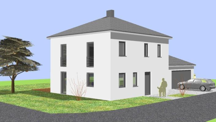 Einfamilienhaus mit 123 qm Ansicht Nord