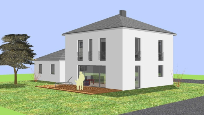 Einfamilienhaus mit 123 qm Ansicht Ost