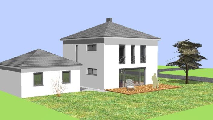 Einfamilienhaus mit 123 qm Ansicht Süd