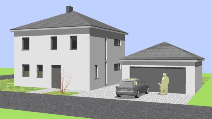 Einfamilienhaus mit 123 qm Ansicht West