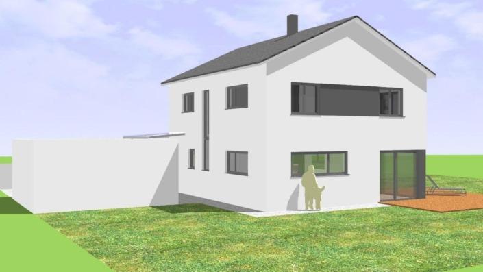 130 qm Einfamilienhaus Ansicht Ost