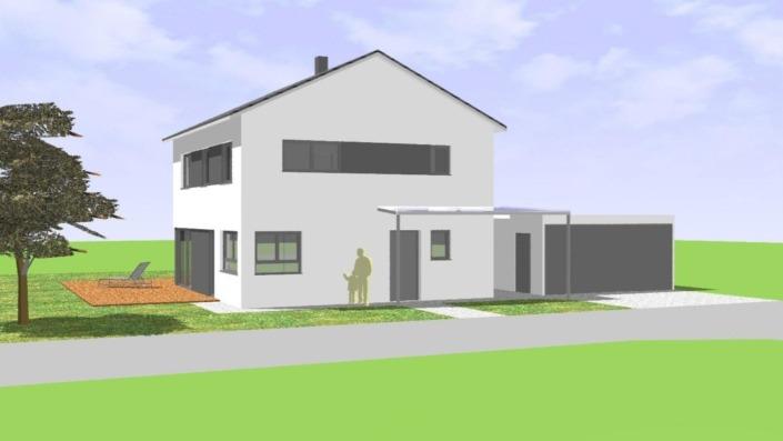 130 qm Einfamilienhaus Ansicht Süd