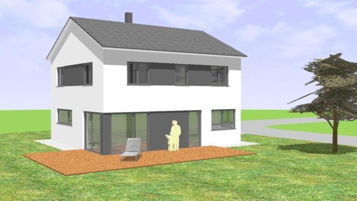 130 qm Einfamilienhaus Ansicht West