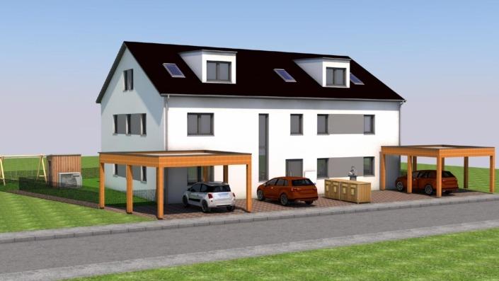 4-Familien-Haus, Ansicht straßenseitig