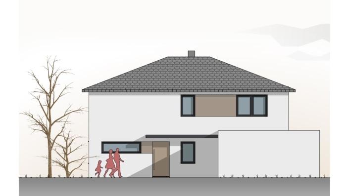 Einfamilienhaus mit 160 qm, Ansicht Nord
