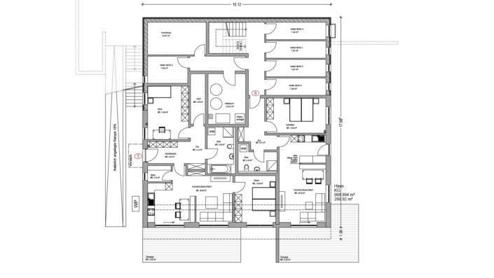 Mehrfamilienhaus Sengenthal, Grundriss UG/Keller
