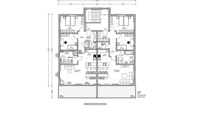 Mehrfamilienhaus Sengenthal, Grundriss Erdgeschoss