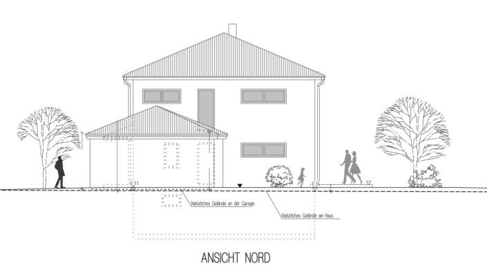 Einfamilienhaus, 136 qm, Ansicht Nord