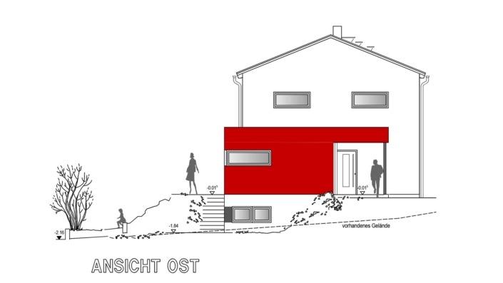 Einfamilienhaus, 138 qm, Ansicht Ost