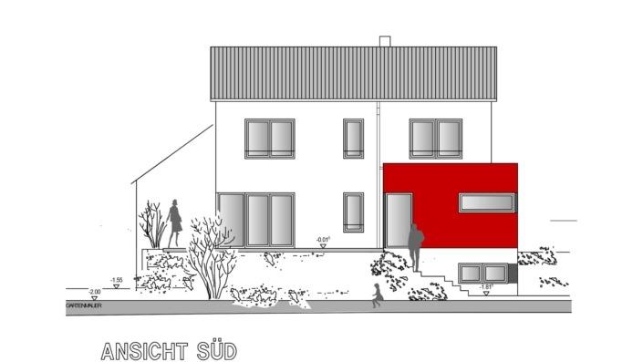 Einfamilienhaus, 138 qm, Ansicht Süd