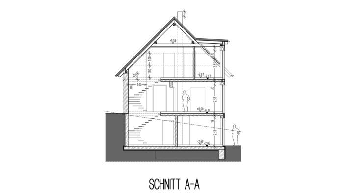 Einfamilienhaus, 138 qm, Schnitt