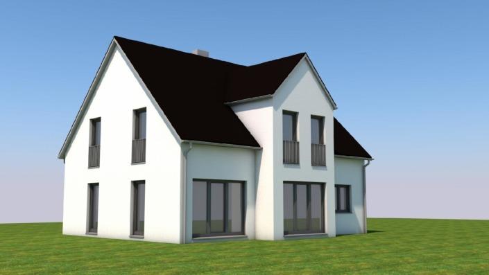 Einfamilienhaus mit 145 qm, Ansicht 1