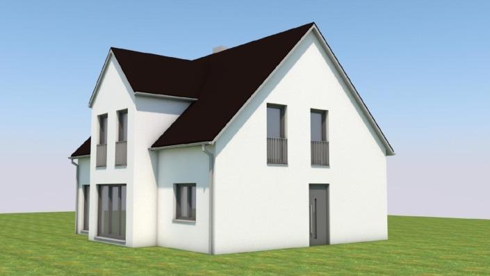 Einfamilienhaus mit 145 qm, Ansicht 2