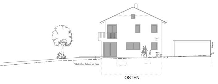 Einfamilienhaus mit 154 qm, Ansicht Ost