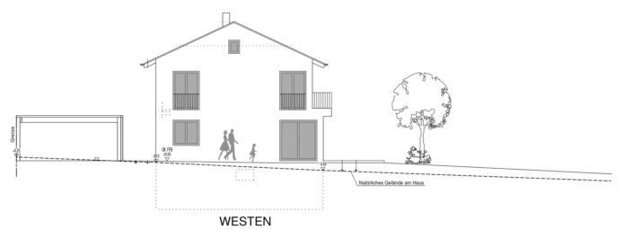 Einfamilienhaus mit 154 qm, Ansicht West