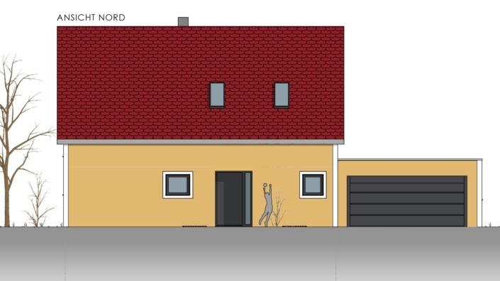 Einfamilienhaus mit 155 qm, Ansicht Nord