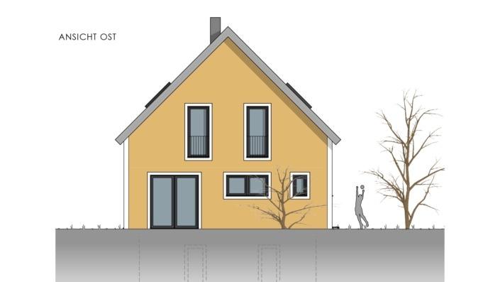 Einfamilienhaus mit 155 qm, Ansicht Ost
