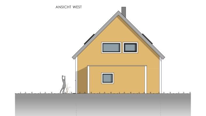 Einfamilienhaus mit 155 qm, Ansicht West