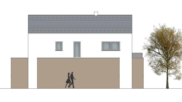 Einfamilienhaus mit 167 qm, Ansicht Nord