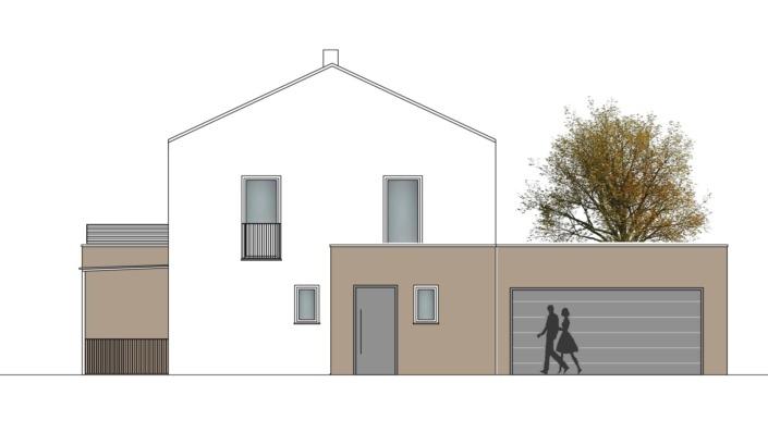 Einfamilienhaus mit 167 qm, Ansicht Ost